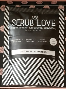 Scrub Love Active Charcoal Body Scrub Cucumber & Bamboo
