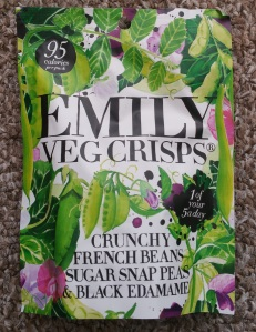 Emily Veg Crisps Crunchy Fresh Beans Sugar Snap Peas and Black Edamame