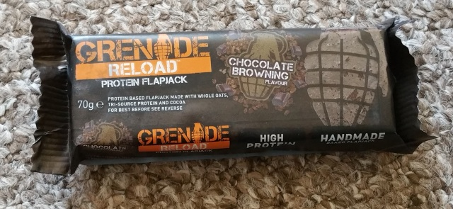 Grenade Reload Protein Flapjack in Chocolate Brownie Flavour.jpg