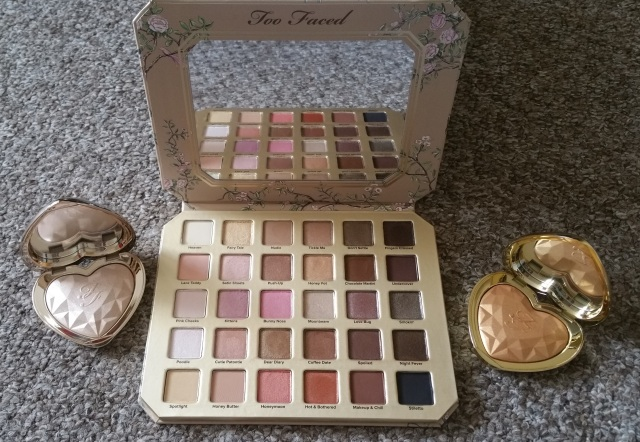 Too Faced Natural love and highlighters 1