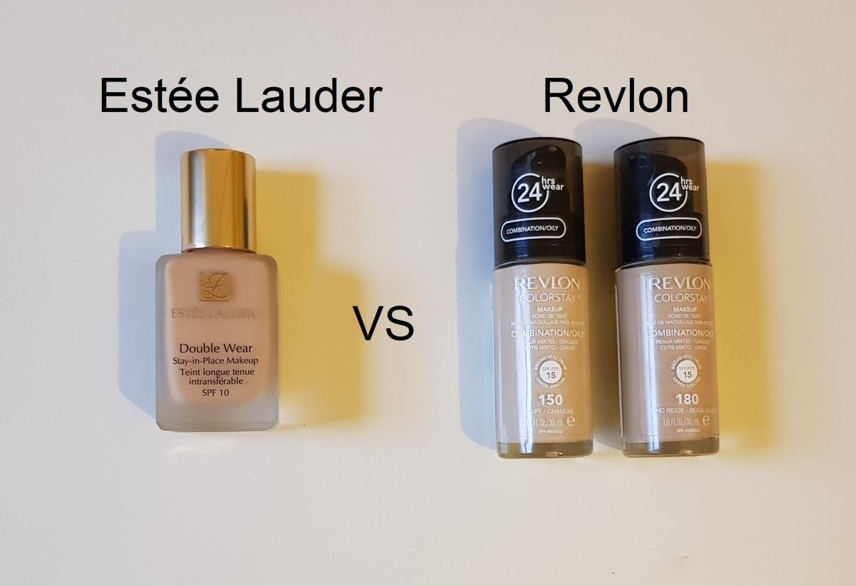 Battle Of The Foundations Este Lauder Double Wear Vs Revlon Color