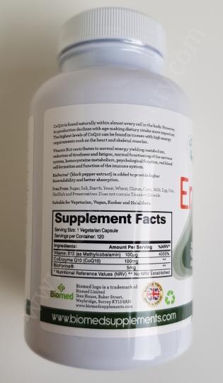 Biomed Energysmart CoQ10 100mg with Vitamin B12 100mcg and BioPerine 5mg 3_20171130014638693