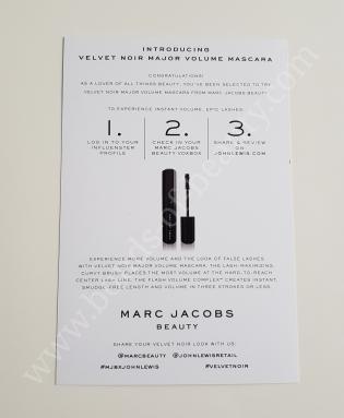 Marc Jacobs Beauty Influenster Box 5_20171105175445694