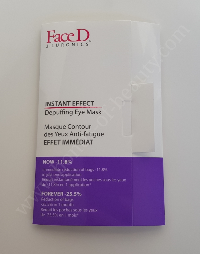FaceD Instant Effect Depuffing Eye Mask_20171210183737443