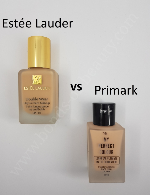 Estee Lauder Double Wear vs Primark My Perfect Colour Foundation 2_20180408105002511