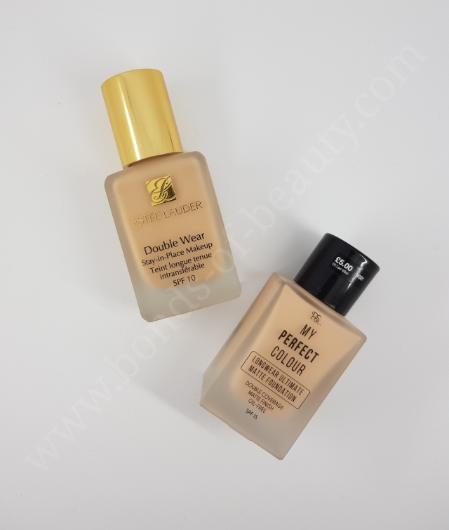 Estee Lauder Double Wear vs Primark My Perfect Colour Foundation 3_20180408105044791