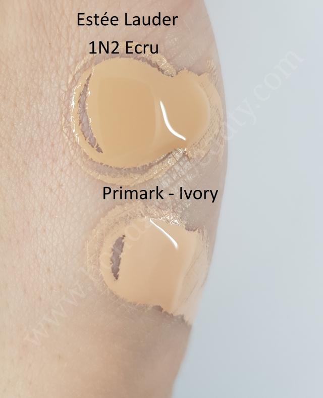 Estee Lauder Double Wear vs Primark My Perfect Colour Foundation swatches_20180408105104441
