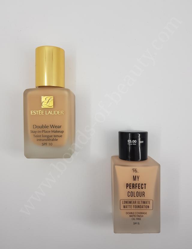 Estee Lauder Double Wear vs Primark My Perfect Colour Foundation_20180408105129842