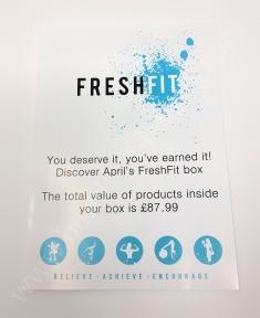FreshFit Fitness Box April 2018 4_20180507134023778