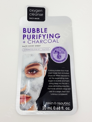 SkinRepublic Bubble Purifying + Charcoal Face Sheet Mask_20180507142647010