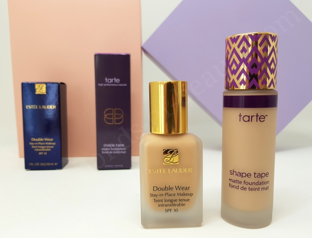 Estée Lauder Double Wear VS Tarte Shape Tape Matte Foundation 11_20180606142138743