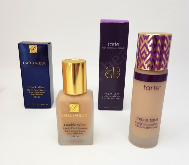 Estée Lauder Double Wear VS Tarte Shape Tape Matte Foundation 2_20180606142715960