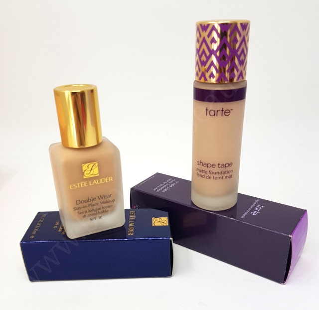 Estée Lauder Double Wear VS Tarte Shape Tape Matte Foundation 3_20180606142755891