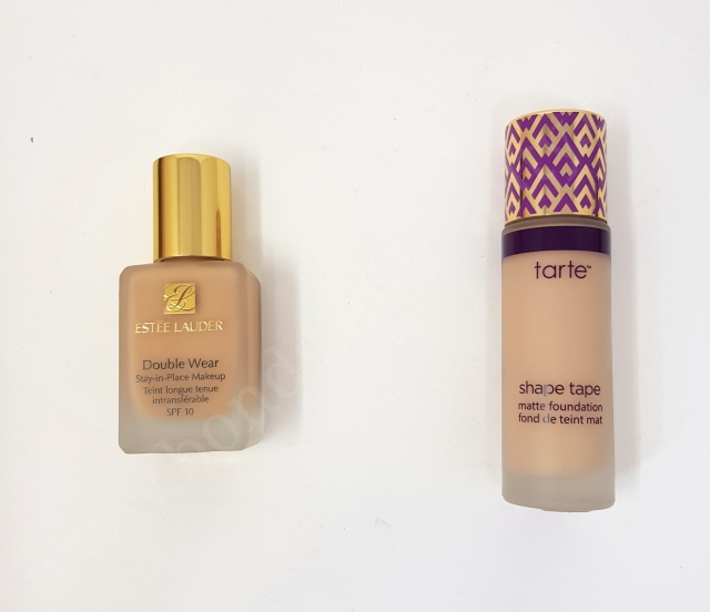 Estée Lauder Double Wear VS Tarte Shape Tape Matte Foundation 4_20180606142517139