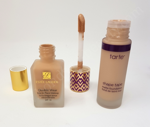 Estée Lauder Double Wear VS Tarte Shape Tape Matte Foundation 5_20180606142553847