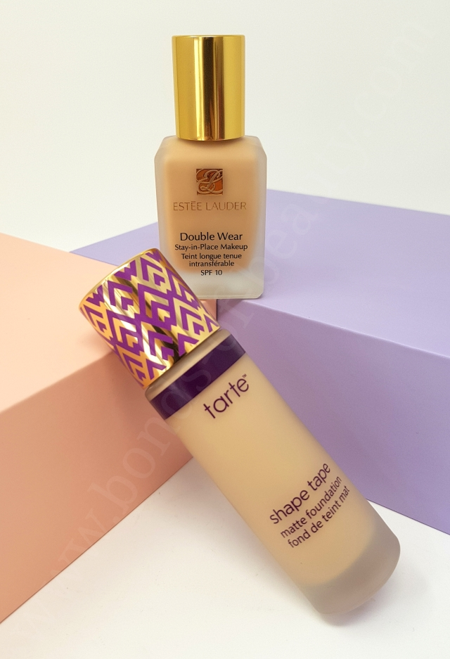Estée Lauder Double Wear VS Tarte Shape Tape Matte Foundation 8_20180606142318321