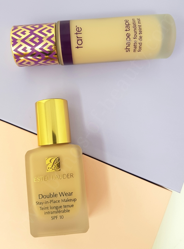 Estée Lauder Double Wear VS Tarte Shape Tape Matte Foundation 9_20180606142431558