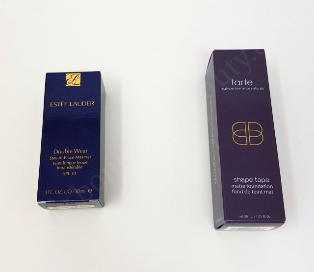 Estée Lauder Double Wear VS Tarte Shape Tape Matte Foundation_20180606143009748