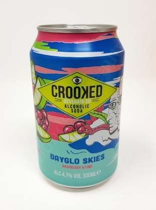 Crooked Beverage Co Alcoholic Soda Dayglo Skies Rasperry and Lime_20180813105053159