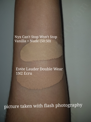 Estee Lauder Double Wear vs Nyx Foundations 11_20181128091924553