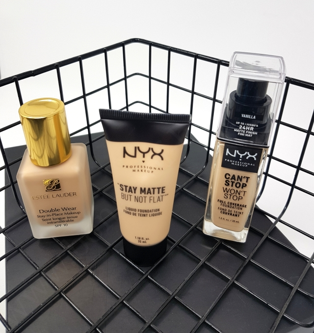 Estee Lauder Double Wear vs Nyx Foundations 4_20181127162314777