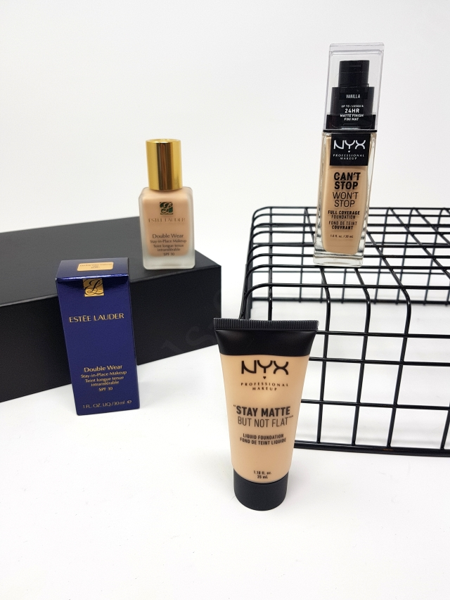 Estee Lauder Double Wear vs Nyx Foundations 7_20181127162144621