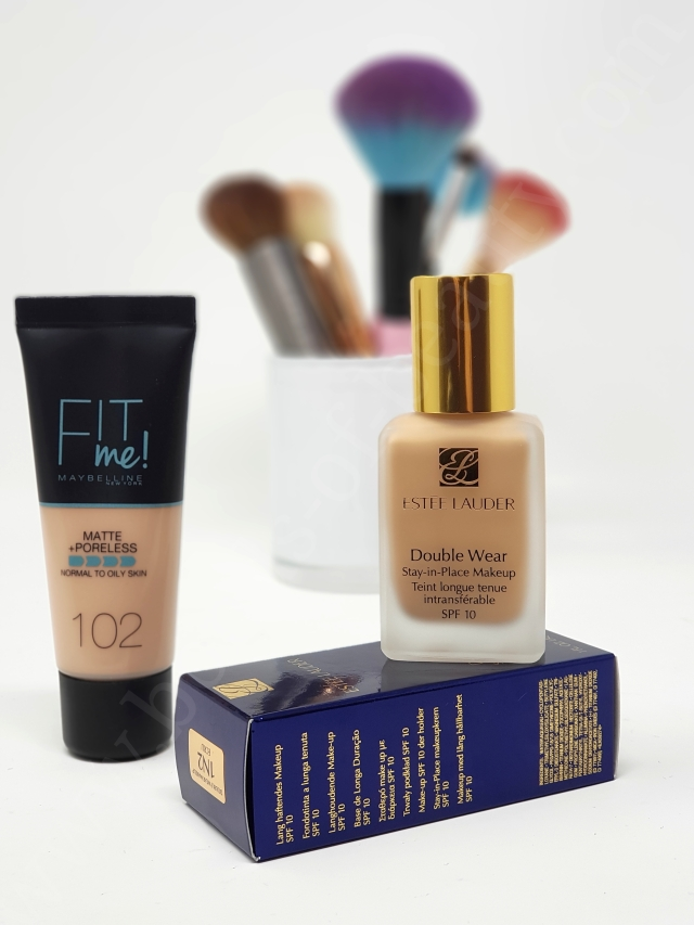 Double Wear vs Fit Me foundation 2_20190422102334460