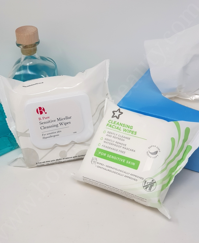 B. Pure Sensitive Micellar Cleansing Wipes vs Superdrug Cleansing Sensitive Facial Wipes 2_20190623003503699