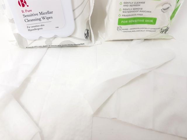 B. Pure Sensitive Micellar Cleansing Wipes vs Superdrug Cleansing Sensitive Facial Wipes 7_20190623003527927