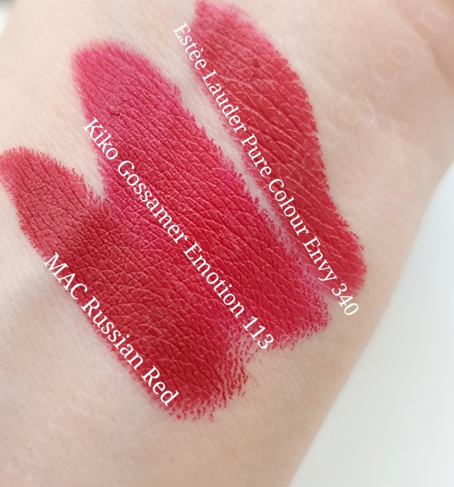 Kiko Gossamer Emotion Creamy Lipsticks 9
