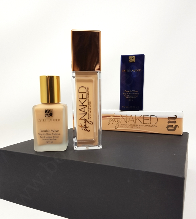 Estee Lauder DW vs Urban Decay Stay Naked 3