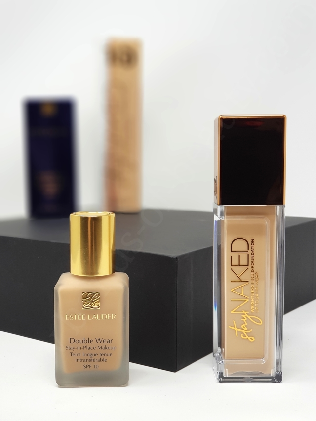 Estee Lauder DW vs Urban Decay Stay Naked