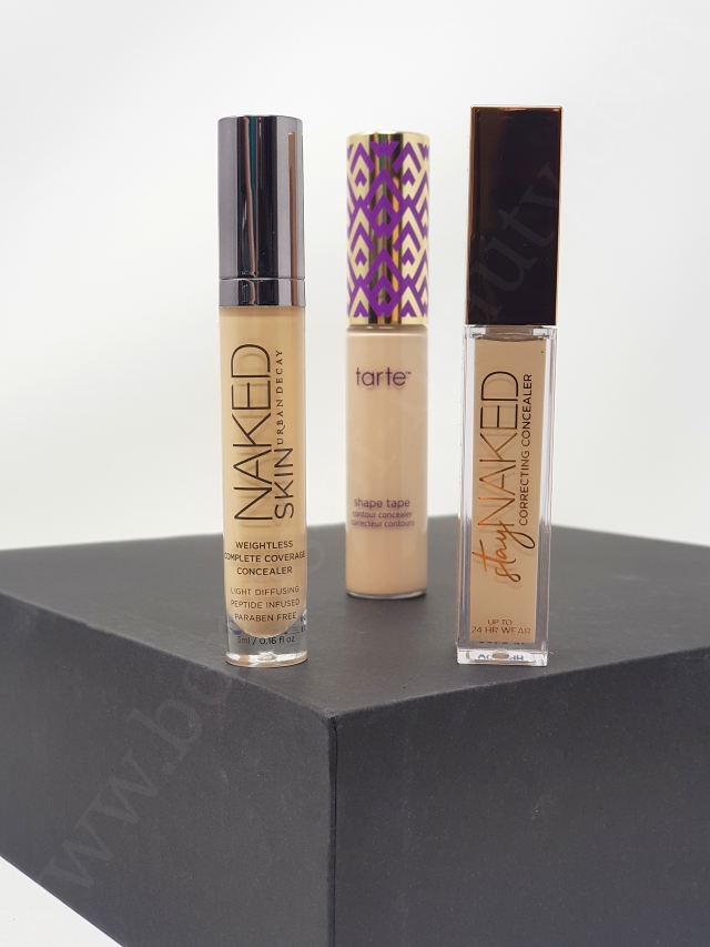 Urban Decay concealers vs Tarte Shape Tape 3