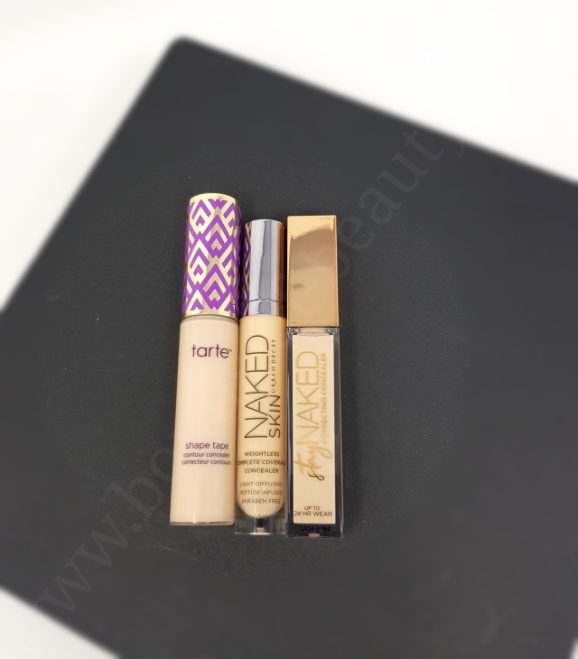 Urban Decay concealers vs Tarte Shape Tape 6