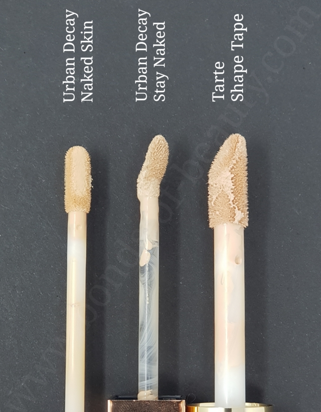 Urban Decay concealers vs Tarte Shape Tape wands
